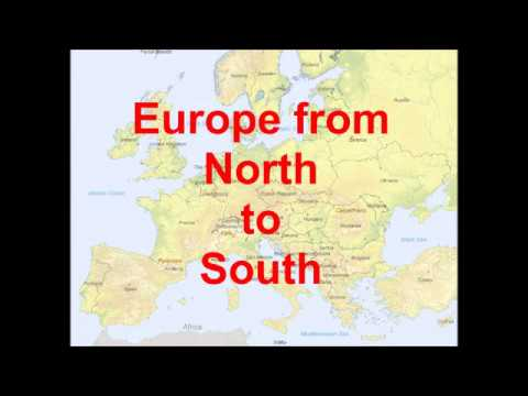 Map European countries north south