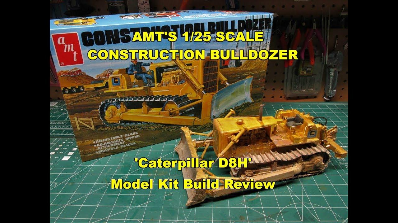 Build A Truck >> AMT 1/25 CONSTRUCTION BULLDOZER MODEL KIT BUILD REVIEW AMT1086 CATERPILLAR D8H - YouTube