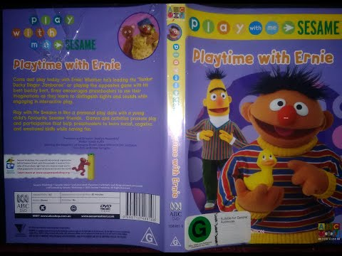 Play With Me Sesame Playtime With Ernie Australian DVD