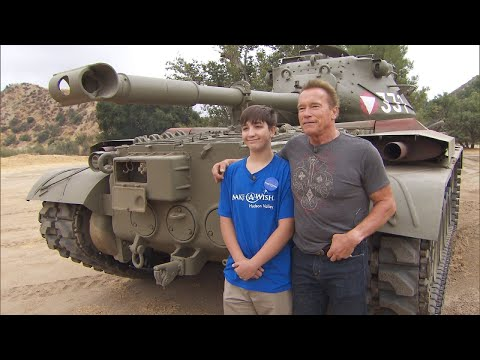 Arnold Schwarzenegger Helps 15-Year-Old With Cystic Fibrosis Drive a Tank
