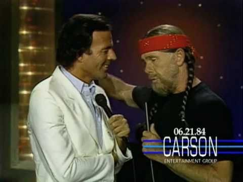 "Julio Iglesias & Johnny Carson Sing ""To All the Girls I Loved Before"" on Tonight Show, 1984"