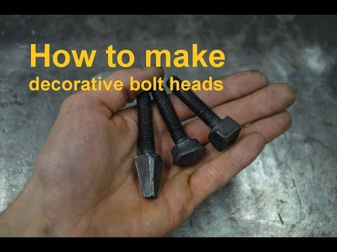 How To Make Decorative Bolt Heads Little Trick I Figured Out So I