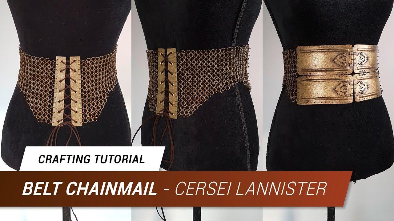 CraftingTutorial - Cersei Lannister Worbla Belt Chainmail | Jak ...