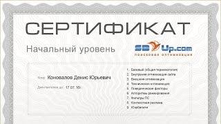Сертификат SEO-специалиста! Подтверждение экспертности в области SEO