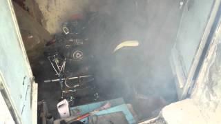 Motore Gilera con parti di kart e la sua nube tossica!