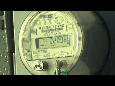 ge kv2c polyphase watthour meter 300kva 7620/13200y transformer - youtube