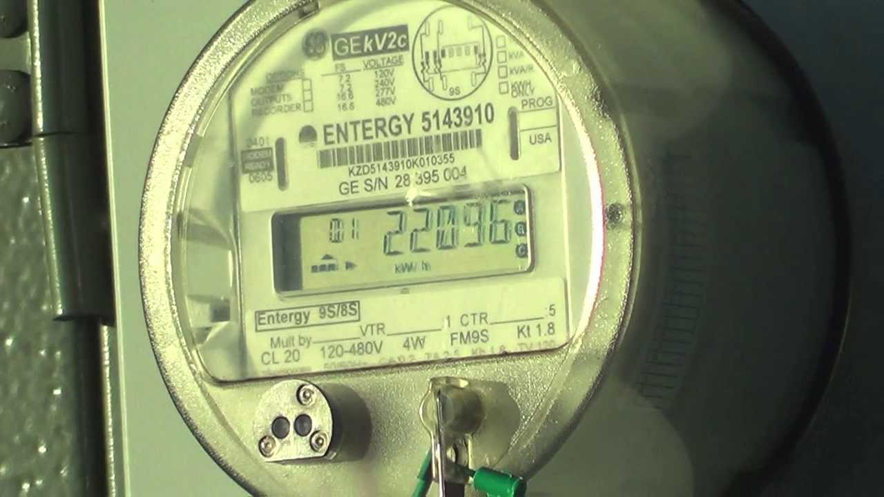 GE kV2C polyphase Watthour meter 300KVA 762013200Y transformer  YouTube