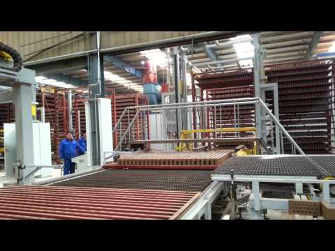 Full automatic loading and unloading system, tunnel drying, tunnel kiln