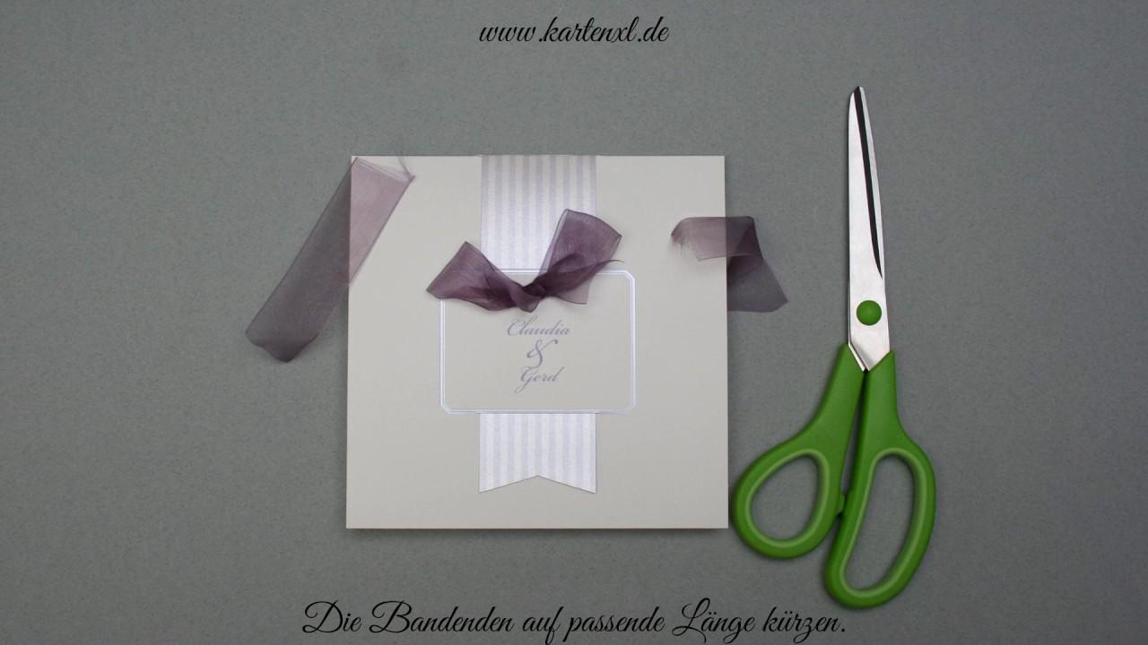 Hochzeits Einladungskarte Belarto 725075 Youtube