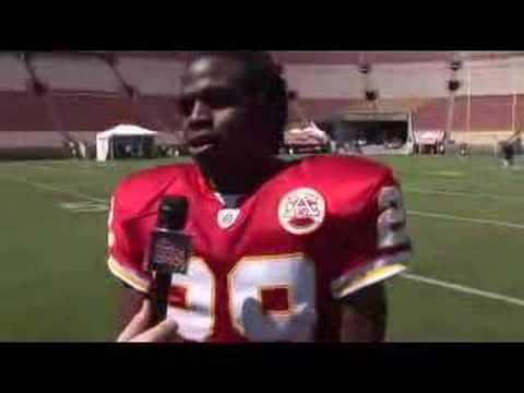 Jamaal Charles - Topps 2008 NFL Rookie Photo Shoot
