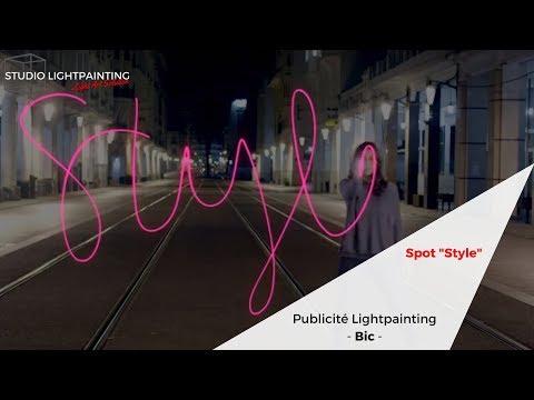 """Publicité Lightpainting Bic Cristal Fashion """"Style"""" VF"""