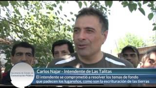 Tras la tormenta, Desarrollo Social entregó colchones en Las Talitas