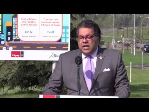 [RAW COVERAGE] 17 Avenue SE  Bus Rapid Transit Ground Breaking