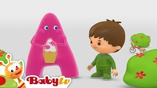Charlie and the Alphabet | Charlie Meets A | BabyTV