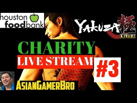 YAKUZA: KIWAMI (PS4) Gameplay Walkthrough Part 3 (English) - Charity Stream - Houston Food Bank