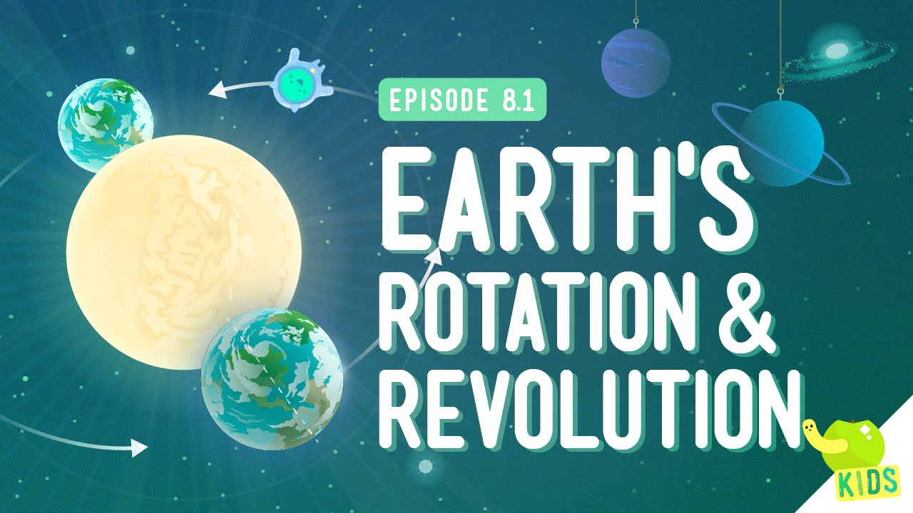 medium resolution of Earth's Rotation \u0026 Revolution: Crash Course Kids 8.1 - YouTube