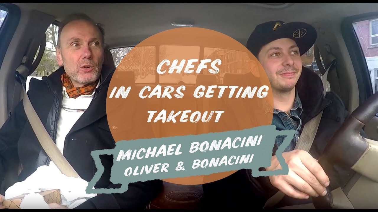 chefs in cars getting takeout