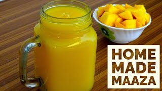 Homemade Maaza Mango || Fresh Mango Juice in Pressure Cooker || Mango Frooti Recipe