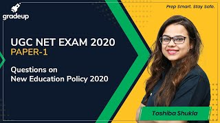 Questions on New Education Policy, 2020 for UGC NET   Gradeup   Toshiba Shukla