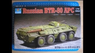 Trumpeter 1/72 BTR-80 APC  - Inbox Review
