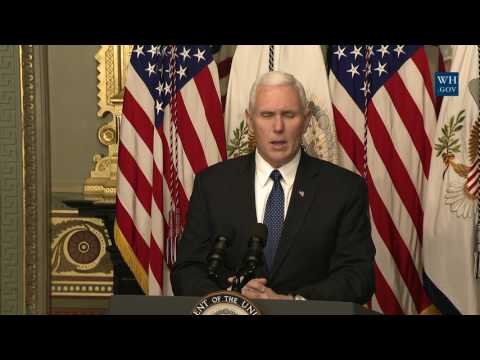 Vice President Pence holds a swearing-in ceremony for Education Secretary Betsy DeVos