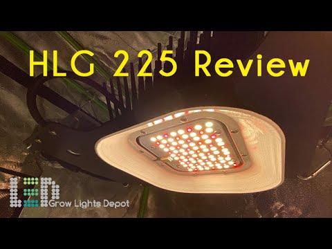 HLG 225 LED Grow Light Review + 315W CMH PPFD Comparison. Winner?!