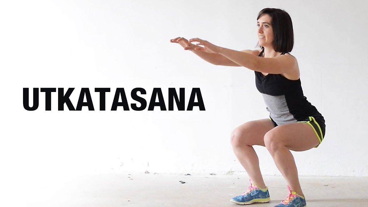 How to do Utkatasana (Chair Pose) - Shelly Khera - Yog Shakti - YouTube