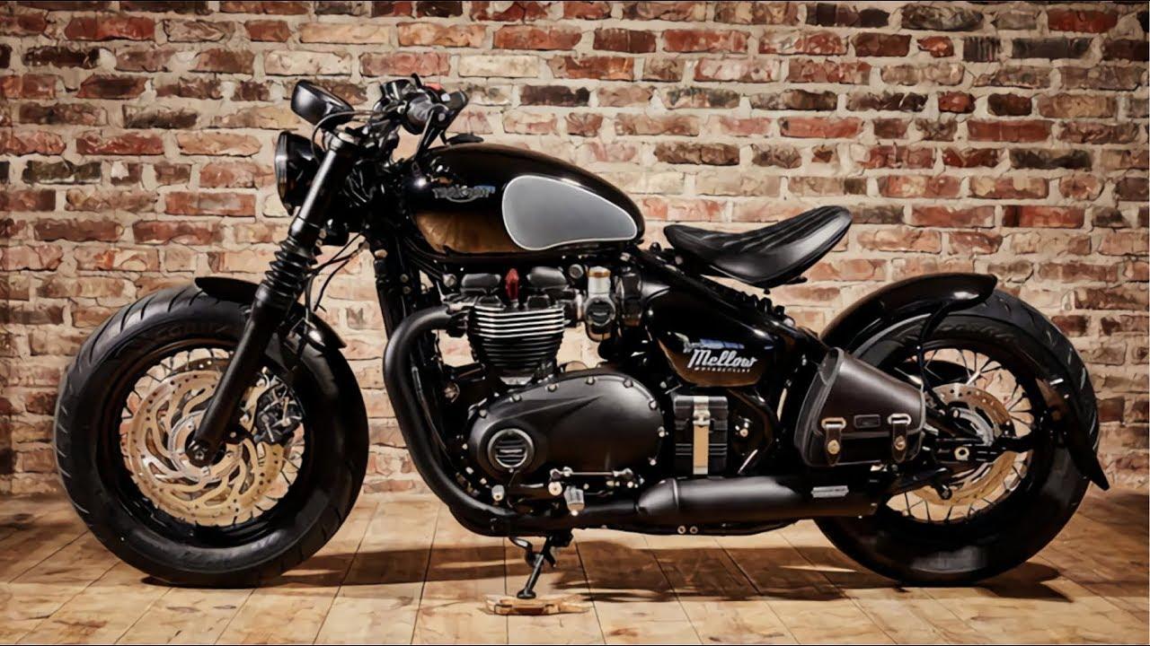 Mellow X Triumph Bonneville Bobber Black Motorcycles