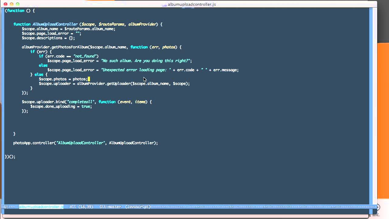 5 4 Upload Image files from your AngularJS application - Learning AngularJS  LiveLessons
