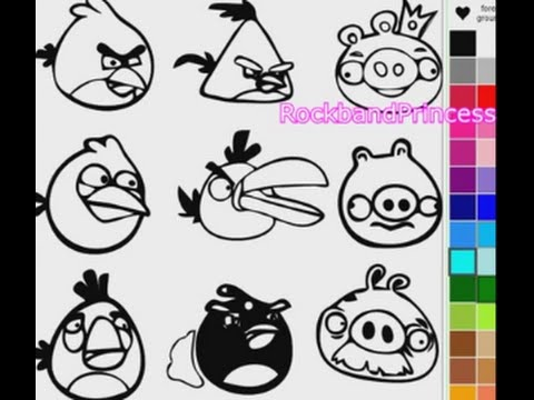 Angry Birds Coloring Pages | Angry Birds Coloring Book - YouTube