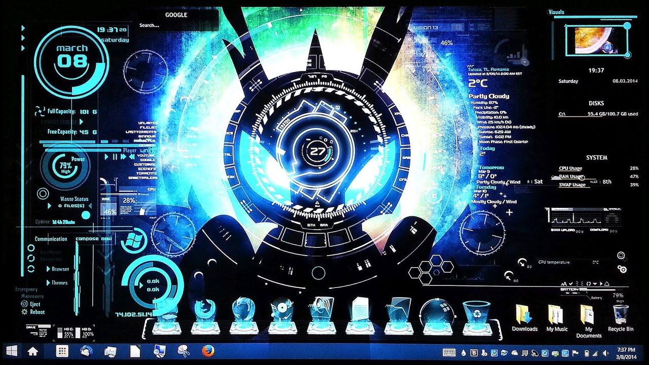 3d Desktop Wallpaper Superman Hd Futuristic Hologram Theme On Windows 8 Laptop Youtube