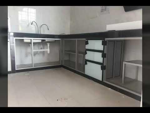 Minddsb Aluminium Cabinet Glass Door Kitchen Cabinet