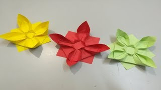 Origami Lotus Flower | How to Make a Simple Origami Lotus Flower