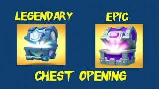 EPIC AND LEGENDARY CHEST OPENING | CLASH ROYALE | NEW SEPTEMBER UPDATE 2016!!!