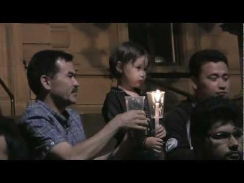 candle vigil for shuhada Quetta in Melbourne