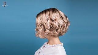 DEMETRIUS | Каре на густых и пористых волосах + растяжка цвета | Каре без удлинения