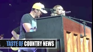 Carrie Underwood Surprises Luke Bryan Fans and They Flip Out