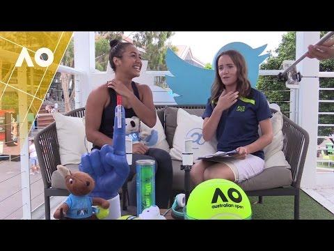 Heather Watson in the Twitter Blue Room | Australian Open 2017