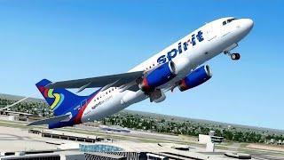 Spirit Airlines UNRESTRICTED CLIMB in Flight Simulator X (Multiplayer)