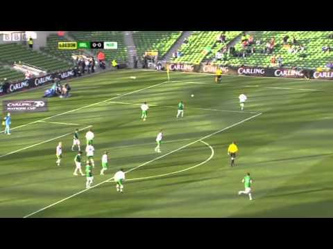 Republic of Ireland v Northern Ireland - Carling Cup BBC Hi lights (24/5/11) (1/3)