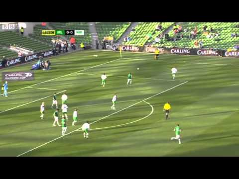 Republic of Ireland v Northern Ireland - Carling Cup BBC Hi lights (24/5/11) (1/3)