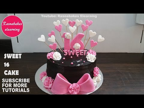 Sweet 16 Cakes:16th Birthday Cake Design Ideas Decorating Tutorial Classes Video