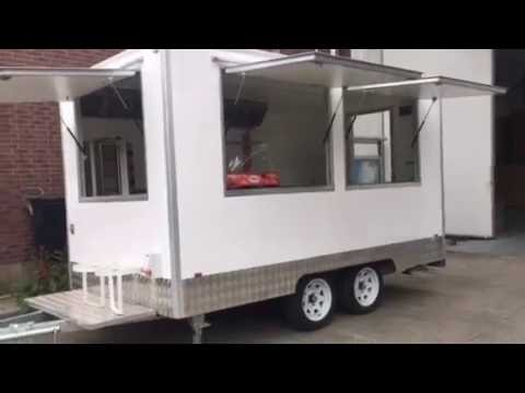 Mobile Food Trucks Trailer Cart With Wheels Coffee Carts For Sale