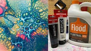 #91 Blooms Technique - 2 Ingredient US Floetrol Cell Activator | Acrylic Pour Painting | Fluid Art