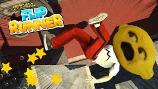 PARKOUR Grandpa Lemon! | Flip Runner