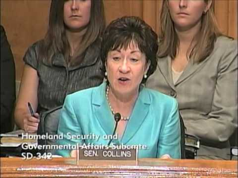 Senator Collins at Postal Service hearing