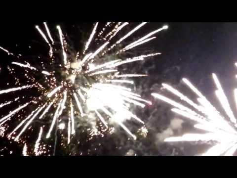 Illegal fireworks over Wilmington, California