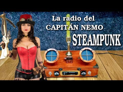 Como hacer  radio  antigua, steampunk style