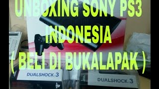 UNBOXING SONY PS3 SUPERSLIM 320 GB ( BELI DARI BUKALAPAK )
