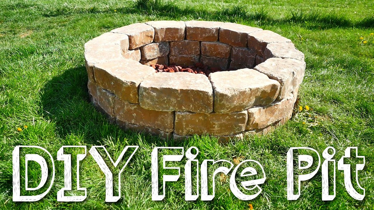 diy stone fire pit youtube. Black Bedroom Furniture Sets. Home Design Ideas